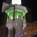 Automatic translation system antenna mounted at Masjid al-haram in Mecca