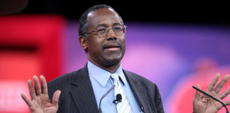 Dr. Ben Carson is shown here responding to a question in one of the many Republican primary debates gearing up for the 2016 Presidential race.