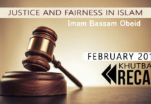 February Khutbah Friday Sermon - Justice and Fairness in Islam